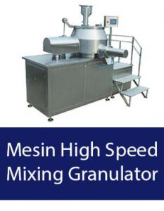 mesin high speed mixing granulator